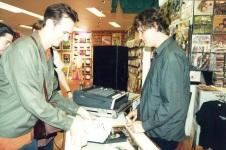 with Ron Sexsmith, Rocking Horse Records photo: Grant Heaton